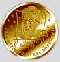Galileo Galilei - ryzí zlato 999/1000, 28 mm, 15,5 g