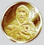 Sv. Cyril a Metoděj - ryzí zlato 999/1000, 28 mm, 15,5 g