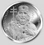 Sv. Cyril a Metoděj - ryzí stříbro 999/1000, 34 mm, 16 g